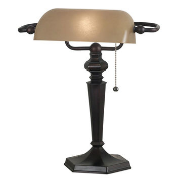 Kenroy Home 20610ORB Chesapeake Oil Rubbed Bronze Bankers Lamp