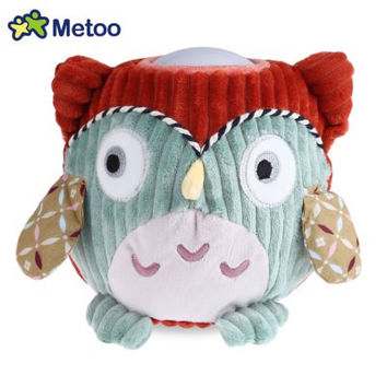 Plush ORANGE OWL Pet Lamp Cartoon Kids Sleeping Doll Toy Light