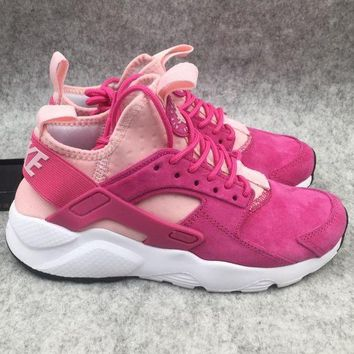 Nike Air Huarache Trending Women Men Casual Sport Running Shoes Sneakers Pink I