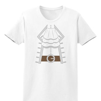 Pirate Captain Costume Silver Womens T-Shirt