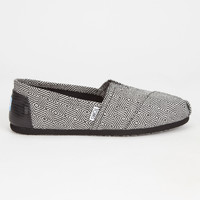 Toms Black Diamond Womens Classic Slip-Ons Black Diamond  In Sizes
