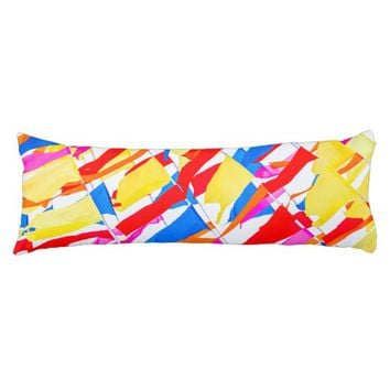 Colorful flags body pillow