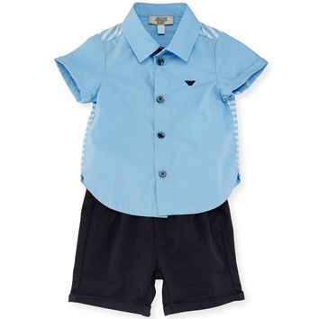 Armani Baby Boys Dressy Blue Set