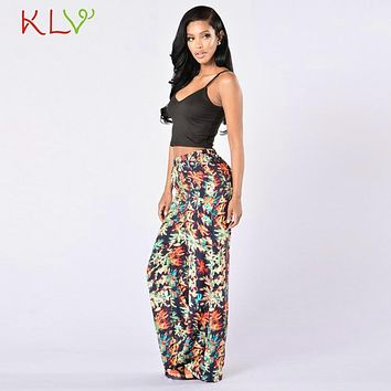 Women Boho floral Print Retro Loose Wide-Leg Pants dashiki long pants female Trousers Ethnic Folk pants casual !5