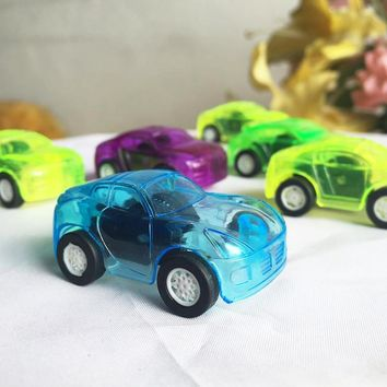 Hot Wheels Mini Car Model Kids Toys For Boys 1Pcs Hot Selling Candy Color Pull Back Car Plastic Cute Toys