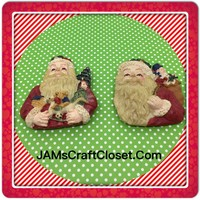 Santa Claus Magnets Vintage Christmas Holiday Decoration Kitchen Decor SET OF 2