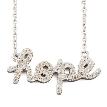 Diamond Hope Necklace, White Gold - Sydney Evan