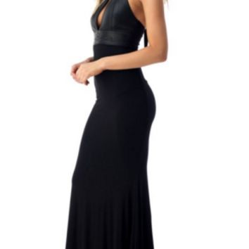 Sky - Pallavi Maxi Black Dress