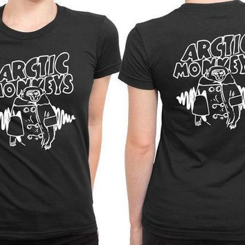 ESBP7V Arctic Monkeys Logo 2 Sided Womens T Shirt