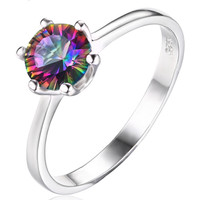 Gorgeous Round 1.00 ct Mystic Topaz Ring