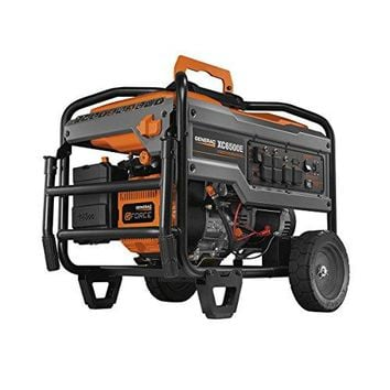 Generac 6825 XC6500E 6500 Running Watts With Electric Start Gas Portable Generator