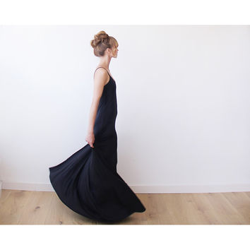Black Maxi Slip Dress