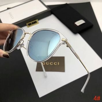 GUCCI Popular Women Summer Style Sun Shades Eyeglasses Glasses Sunglasses 4# Blue I-A-SDYJ