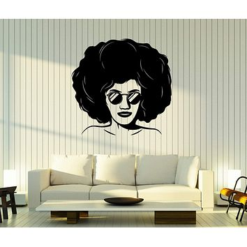Wall Stickers Vinyl Decal Beauty Girl  Style of the 90's Hairstyle Glasses Decor Unique Gift z4831
