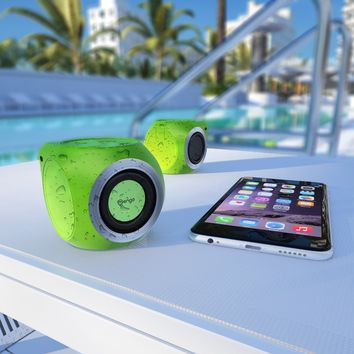 Mengo AquaCube, Waterproof Speaker [3W Ultra Clear Sound] Waterproof Portable Bluetooth (4.1) Speaker - Green - Retail Packaging
