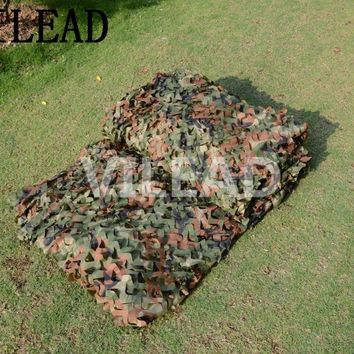 VILEAD 3.5M x 8M (11.5FT x 26FT) Woodland Digital Military Camouflage Netting Army Camo Net Sun Shelter for Hunting Camping Tent