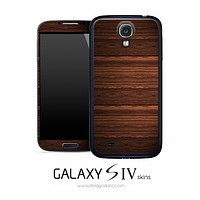 Horizontal Abstract Wood Skin for the Galaxy S4