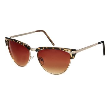 Jeepers Peepers Exclusive to Asos Cateye Metal Sunglasses - Tortoisesh