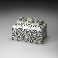 Hors D'Oeuvres Mother Of Pearl Storage Box