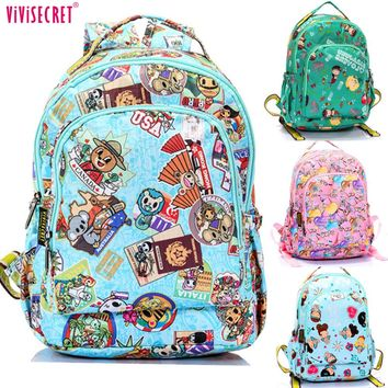 Hot Sale Waterproof Nylon Cute Cartoon Minions Mochila Escolar Primary School Backpack Bags For Children Kids Boys Girls
