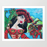 A Pirates Quest For The Skittled Dragon Art Print by Laura Barbosa Art