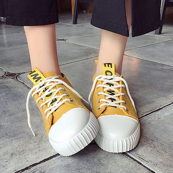 """""""White"""" Canvas Sneakers"""