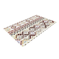 "Nika Martinez ""Tribal Native in Pastel Brown"" Brown Woven Area Rug"