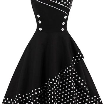 Atomic 1960's Polka Dot Cocktail Dress