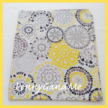 Personalized Grey and Yellow Baby Blanket ~ Yellow and Grey Crib Blanket ~ Girl's Baby Blanket