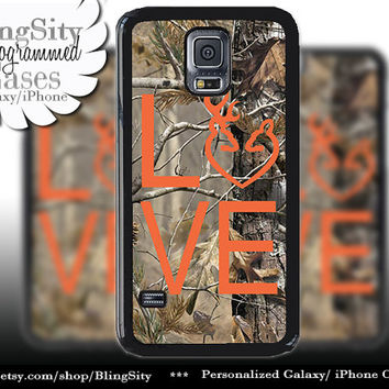 Buck Doe Love Heart Galaxy S4 case S5 Camo Orange Browning RealTree Tree Deer Camo Samsung Galaxy S3 Case Note 2 3 4 Cover Country Girl