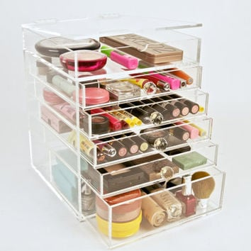 Clear Acrylic Makeup Organizer Beauty Cube