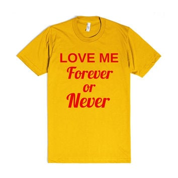 love me forever or never
