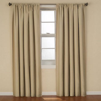 "Eclipse Curtains Kendall Blackout Energy-Efficient Curtain Panel, 42""x63"", Cafe"