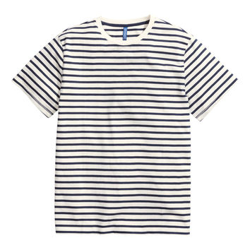 H&M - Striped T-shirt - White - Men