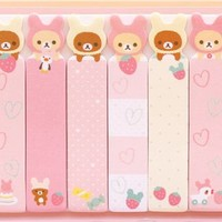 slim Rilakkuma rabbit index stickers bookmark sticker - Sticky Notes - Sticker - Stationery
