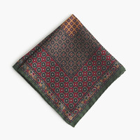 J.Crew Mens Italian Silk Pocket Square In Classic Foulard