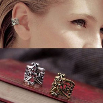 Vintage Punk hollow U-shaped ear cuffs invisible ear clip on earrings for men women brincos pequenos Fashion Jewelry