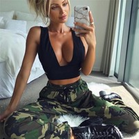 Winter Women's Fashion Hot Sale Camouflage Training Pants [73855598607]