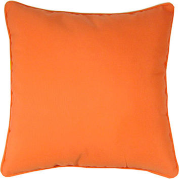 "Sunbrella Melon Indoor/Outdoor Pillow, 18"" x 18"""