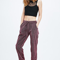 Pippa Lynn Metallic Joggers in Pink - Urban Outfitters