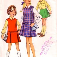 60's Jumper Dress Blouse Skirt / UNCUT vintage Sewing Pattern / Simplicity 8311 / Bust 32""