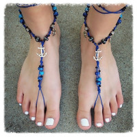 Handmade Nautical Ocean Barefoot Sandals