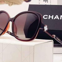 Chanel Trending Women Casual Sun Shades Eyeglasses Glasses Sunglasses Brown G-A-SDYJ