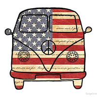 'American VW Bus' by Swigalicious