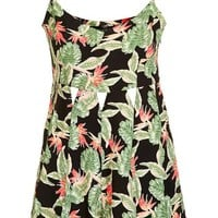 PETITE Tropical Leaf Playsuit