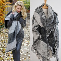 Fashion Blanket Scarf Female Cashmere Pashmina & Wool Scarf Shawl 2015 New Winter Warm Scarves Cape = 1946170948