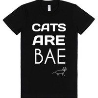 Cats Are Bae-Female Black T-Shirt