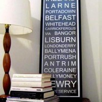 IRELAND Subway Roll Sign Typography Bus Tram Scroll by wordology