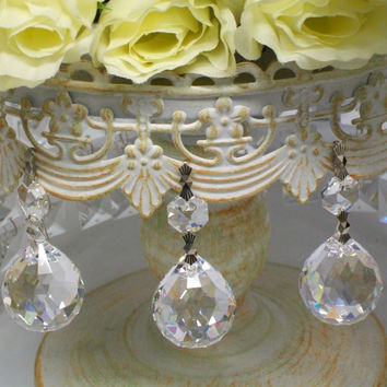 Set of 3 Hanging Crystal Ball Cake Decoration, Chandelier Crystals, Wholesale Chandelier Crystals, Wedding Crystals Cake, Crystals Wedding