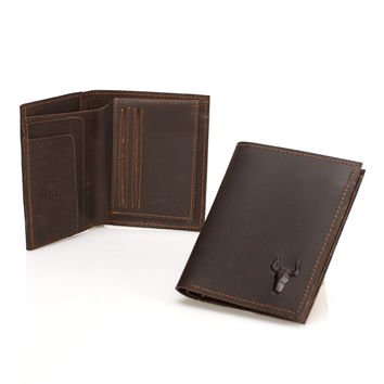 Vintage Leather Men Handcrafts Wallet [9026234051]
